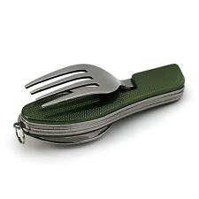 Popular Camping Picnic Travel 3 in 1 Folding Spoon Fork Knife Set Kit Multi Tool