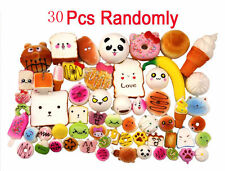 Lot 30 Random Kawaii Squishies Bun Rilakkuma Toast Donut Bread Squishy charm Hot