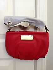 NWT MARC BY MARC JACOBS New Q Colorblock Percy Crossbody Bag Purse Rosey Red