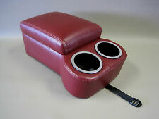 Maroon Bench Seat Console With Flip Up Armrest and Cup Holders