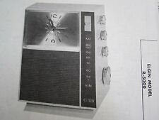 ELGIN R-5000 CLOCK RADIO PHOTOFACT
