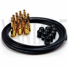 New! George L's .155 Solderless Black Gold Plated Plugs Patch Cables Effects Kit