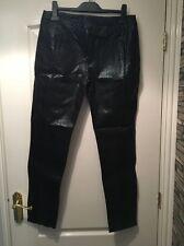Fusible en cuir pantalon noir peau de serpent taille 12 neuf sans étiquette punk rock indie
