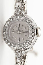 Vintage 1950s $6000 OMEGA 1.25ct VS G Diamond Platinum Ladies Watch WARRANTY