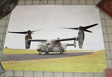 """BELL-BOEING V-22 OSPREY 8.5"""" x 11"""" Rolled Photograph Print with Specs on Back"""