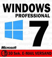Windows 7 Professional Vollversion Win 7 Pro 32 / 64 OEM KEY Lizenzschlüssel