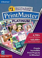PRINTMASTER PLATINUM (Latest Version 7----2015) Windows & Mac Software------new