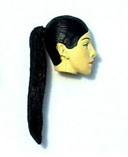 Nikova Female Action Figure Head Black Hair 1 Custom Fodder for Star Wars GI Joe