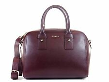 Furla 793588 BFW6 Allegra Granata Italian Leather Satchel Double Zip Handbag NWT