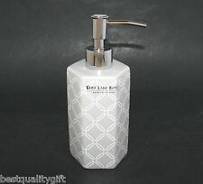 NEW WEST LAKE SET GREY,GRAY+WHITE CERAMIC KITCHEN,BATHROOM SOAP+LOTION DISPENSER