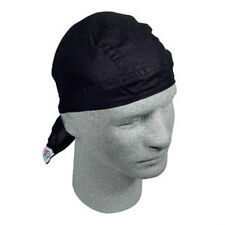 Solid Black Flydanna is a Deluxe Doo Rag Headwrap Skull Cap Biker ATV Sports