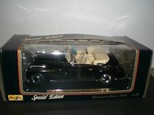 Maisto Special Edition 1955 Mercedes-Benz 300S Die Cast Black Car; Scale 1:18