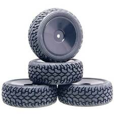 9074-8019 Wheel Rims & Rally Tires Tyre 4P RC HSP For 1:10 On-Road Rally Car