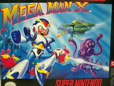 D0554711 MEGA MAN X COMPLETE IN BOX SNES 100% WORKING PLASTIC COVER INSTRUCTIONS