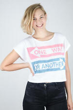NEW URBAN OUTFITTERS CROP TOP ONE WAY - ONE SIZE TEE T-SHIRT