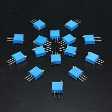 60pcs 15Value 3296W Trimmer Trim Pot Variable Resistor Potentiometer Assorted