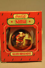 Hallmark - Santa - Coca-Cola - Glass Ornament 1986 - Keepsake