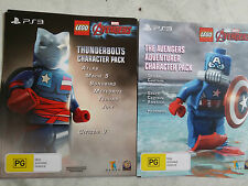 Lego Marvel Avengers Thunderbolts & Adventurer Character Packs (PS3 DLC ONLY)