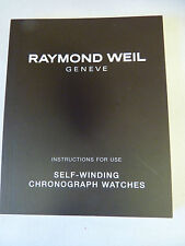 Raymond Weil Self-Winding Chronograph Watches - Instruction Manual