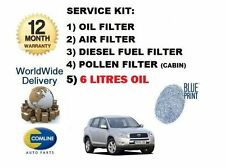 FOR TOYOTA RAV4 2.2DT D4D 2005-  OIL AIR FUEL POLLEN FILTER SERVICE KIT + 6L OIL