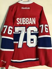 Reebok Premier NHL Jersey Canadiens P.K. Subban Red sz XL