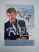 SEMINO ROSSI AUGENBLICKE TOUR 2012 Backstage Pass
