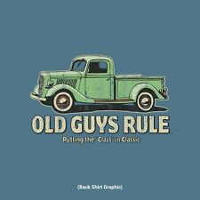 "OLD GUYS RULE OLD TRUCK PUTTING THE "" CLASS IN CLASSIC "" S/S SIZE 2X T-SHIRT"