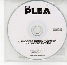 (DV597) The Plea, Staggers Anthem - 2012 DJ CD