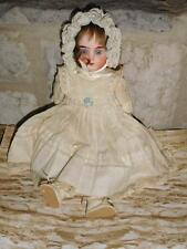 Antique German Bisque 1902 12/0 Leather Kid Body, Sawdust Glass Eyes etc