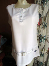 LARGE True Vtg 70s Polyester GROOVY TENNIS MINI SKIRT TURTLE LOGO DRESS Womens