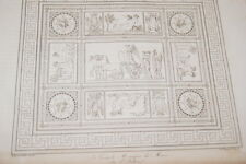 GRAVURE SUR CUIVRE NAPOLEON GRANDE MOSAIQUE DU MUSEE  1822 TARDIEU BELLONI
