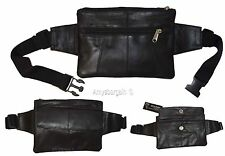 "Flat Lambskin Waist Pouch, Leather bag Small Waist pouch Fanny Pack up to 45"" BN"