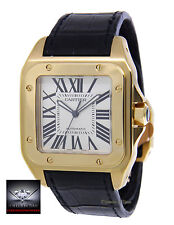 Cartier Santos 100 XL 18k Yellow Gold Mens Watch Box/Papers 2657 W20071Y1