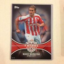 #FS-MM Marc Muniesa - Stoke City 6/10 made 2014/15 Topps Premier Gold 5x7 BLACK
