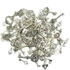 50pcs Vintage Alloy Skeleton Key Pendants DIY Charms Jewelry Making Craft