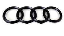 NEW 06-12 AUDI MATTE BLACK FRONT GRILLE RINGS Badge Emblem A3 A5 A4 A6  10.75""