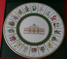 RARE !!! MASTERS GOLF TOURNAMENT CHINA PLATE AUGUSTA NATIONAL HOLE BY HOLE NAMES