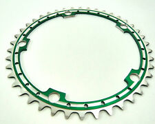 Green Chainring Anodized Rino 42T 144 Bcd Drilled Fits Campagnolo Cranksets NOS
