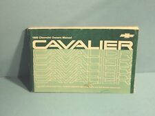 88 1988 Chevrolet Cavalier owners manual