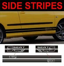 side stripes seat racing fits seat Ibiza leon toledo