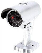(1) Camera Indoor Outdoor Video Dummy Fake Surveillance Security w/ LED Light
