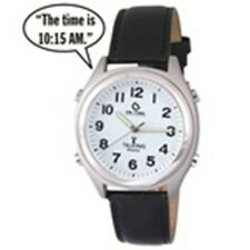 ATOMIC! Talking Analog Watch for the Blind w/Alarm,Speaks Time, Day,Date,#1250