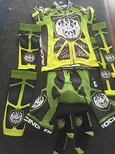 Rock Racing Cycling Kit RARE Jersey Bib Arm Knee Warmers