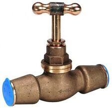 Talbot 32mm brass pushfit stopcock for blue MDPE pipe. Push fit. Stop tap cock