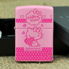 Free Shipping Fashion Cute Hello Kitty Metal Cigar Cigarette Lighter c/w Box