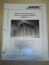 Bose Service Manual~Acoustimass-5 Series IV Speaker System/AM-5P IV~Original
