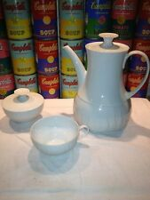 A Thomas Germany Lanzette coffee pot, covered sugar bowl and cup Rosenthal