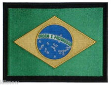 "Brazil Brazilian (embroidered) Country Flag Patch 5""x 4"" (13 x 10CM) approx"