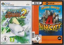 Sim city 4 Deluxe Edition & addon rush hour + Airline youlin 2 jeux pc