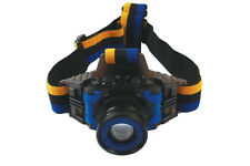Headlight Torch LED Rechargeable 3 Watt Adjustable Focus Strobe Full Light  USB